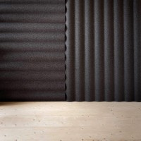 akustické obklady Scala lze na stěnu umísťovat vodorovně i svisle