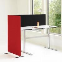 Soneo podlahový akustický paraván se stolní akustickým paravánem.