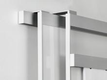 nástěnná lišta má na vrchu dvě posuvné dráhy pro zavěšování tabulí a klip funkci pro papír