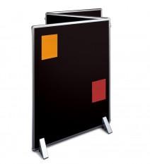 textilní povrch panelu Silverlink je speciálně uzpůsoben pro  přichycování papírů pomocí špendlíků. Lehká zapichovatelnost