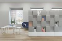 Window s několika kusy v řadě poslouží k rozdělení prostoru a  poskytuje vizuální i akustické stínění