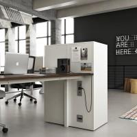 Ačkoli digitální archivy stále rostou, papír zůstává králem pracoviště. Jak velké registratury zmizí, nastává nová potřeba skříní namontovaných na stůl. Nebo vedle stolu.