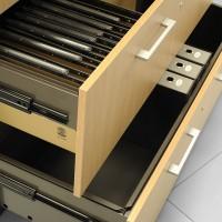 Široká škála příslušenství ke skladování závěsných složek a papírů do tiskárny