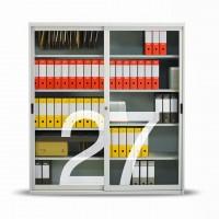 Získejte přehled o vnitřku, že všechny dokumenty jsou bezpečně  na místě. Skříň je na víc opatřena  prosklenými dveřmi z bezpečnostního netříštivého skla