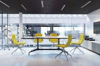 Flexi je moderní židle s rozmanitými modely a jedinečným jednotným vzhledem, který spojuje konferenční, pracovní a odpočinkové relaxační zóny v jednotný styl Flexi