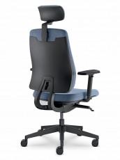 kancelářská židle s pětiramenným křížem v čalouněné i síťované verzi zádového opěráku