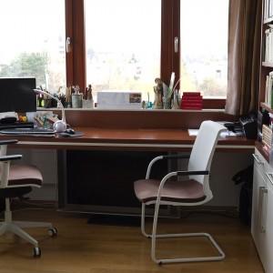 """Tyto židle pro kancelář """"nakonfiguroval"""" SOLOFORM  hlavně na sezení a také, aby ladily s okolním nábytkem."""